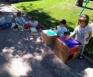 Atividade ao ar Livre diverte as crianças